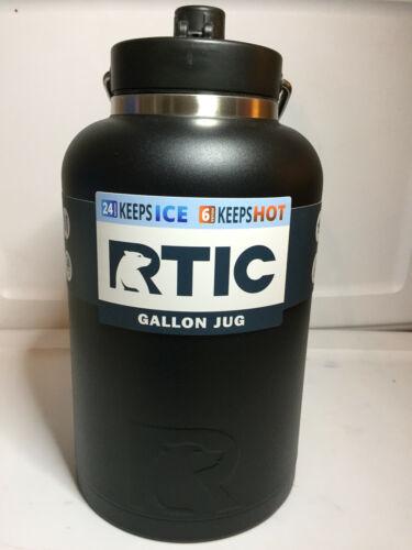 RTIC Gallon en acier inoxydable pichet Noir Matdétient la glace pour journées non heures