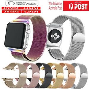 Milanese Mesh Loop Magnetic Clasp Stainless Steel Apple Watch Series 5 4 3 Band Ebay