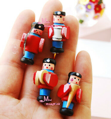 1:12 Dollhouse Miniatures Red Doll Wooden Military Band 4 People Group