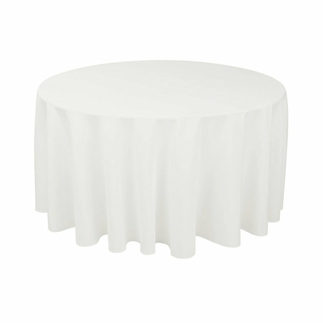 10 pcs 70  Weiß Round Polyester Tablecloth Bulk for Weddings Party