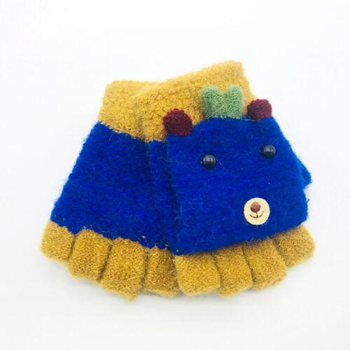 Toddler Children Girls Boys Winter Cartoon Animal Keep Warm Mittens Gloves