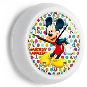 Image is loading MICKEY-MOUSE-EARS-SILHOUETTE-COLORFUL-POLA-DOTS-WALL-