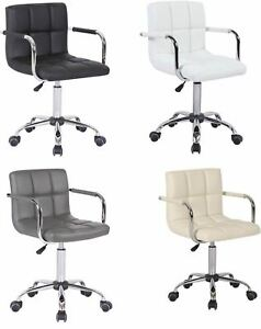 FAUX-LEATHER-ADJUSTABLE-GAS-LIFT-360-SWIVEL-COMPUTER-SCHOOL-DESK-TABLE-ARM-CHAIR
