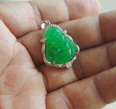 Schöne grüne Jade glücklichen Buddha Anhänger