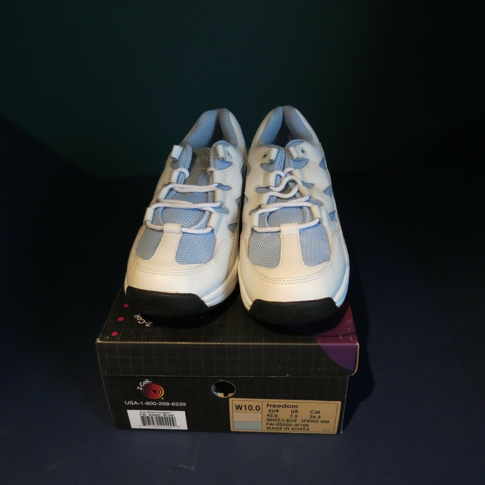 NEW Z-coil pain relief footwear womens 10 baby bluee freedom