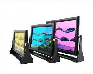 Plastic-Moving-Sand-Glass-Art-Picture-Photo-Frame-Home-Decor-Birthday-Xmas-gift