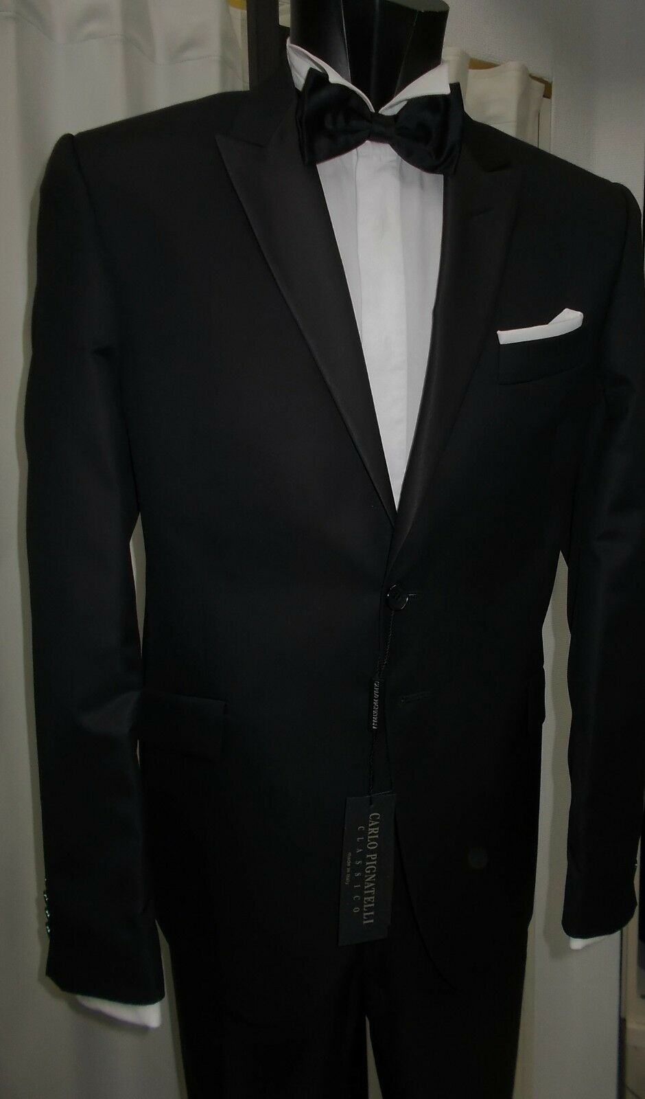 SMOKING UOMO FIRMATO CARLO PIGNATELLI T.50 ABITO CERIMONIA TUXEDO  WEDDING  MAN