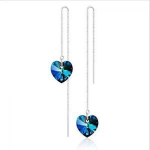 mode-zappeln-in-herz-form-blau-schmuck-lange-kette-ohrringe-crystal