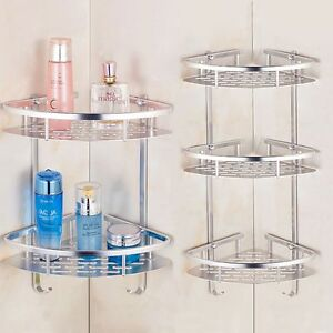 Bathroom Corner Bath Rack Storage Holder Organizer Triangular Shower Caddy Shelf