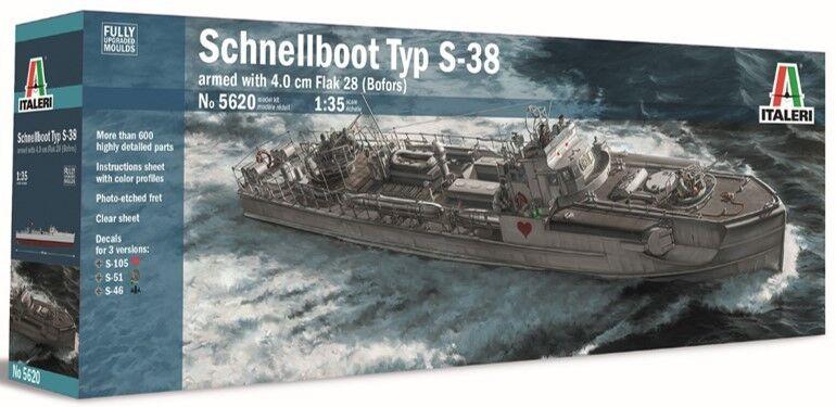Schnelldémarrage Typ S-38 With 4.0Cm Flak 28 (Bofors) ITALERI 1 25 IT5620