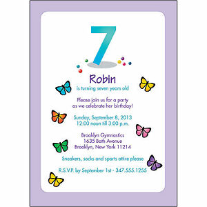25 personalized childrens birthday party invitations 7 years old image is loading 25 personalized childrens birthday party invitations 7 years stopboris Image collections