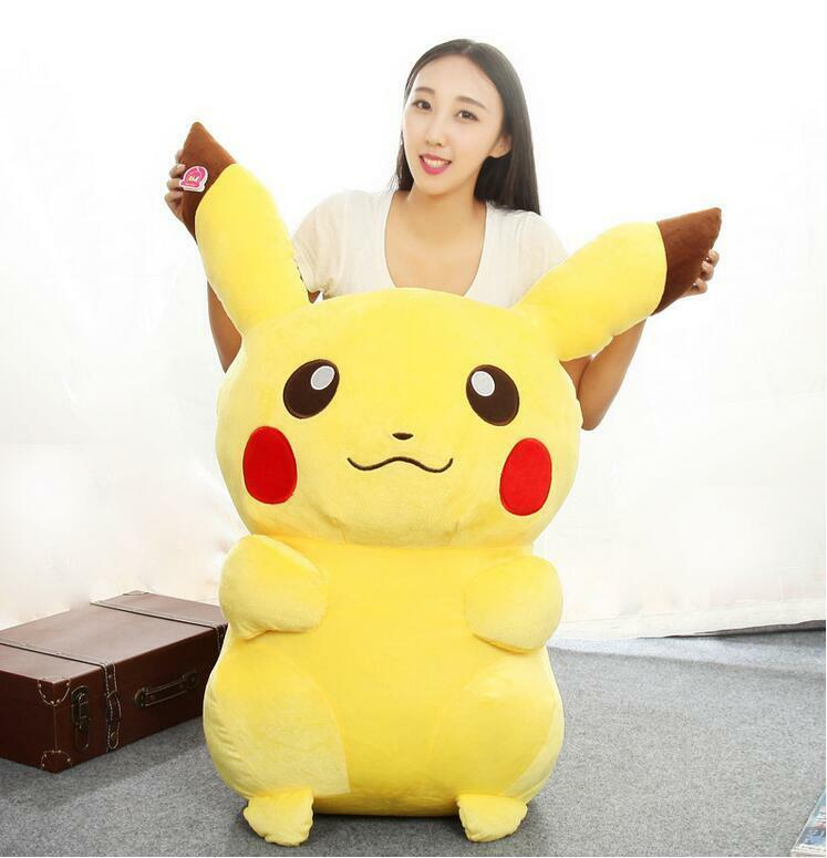 43'' 2019 Anime Pokemon Go Pikachu Plush Soft Toys Doll Kids X'Mas Gift 110Cm