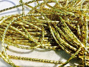 Military Rare Vintage Gold Tone Metal Bullion Fringe Sewing Appliqué