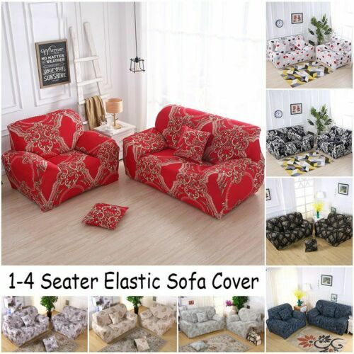 1//2//3 Seats Stretch Spandex Chair Sofa Couch Cover Elastic Slipcovers For Decor