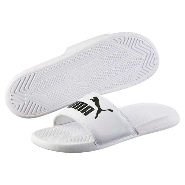 3c1b66178bda PUMA Popcat Mens Slide White Black Shoes 7 UK for sale online
