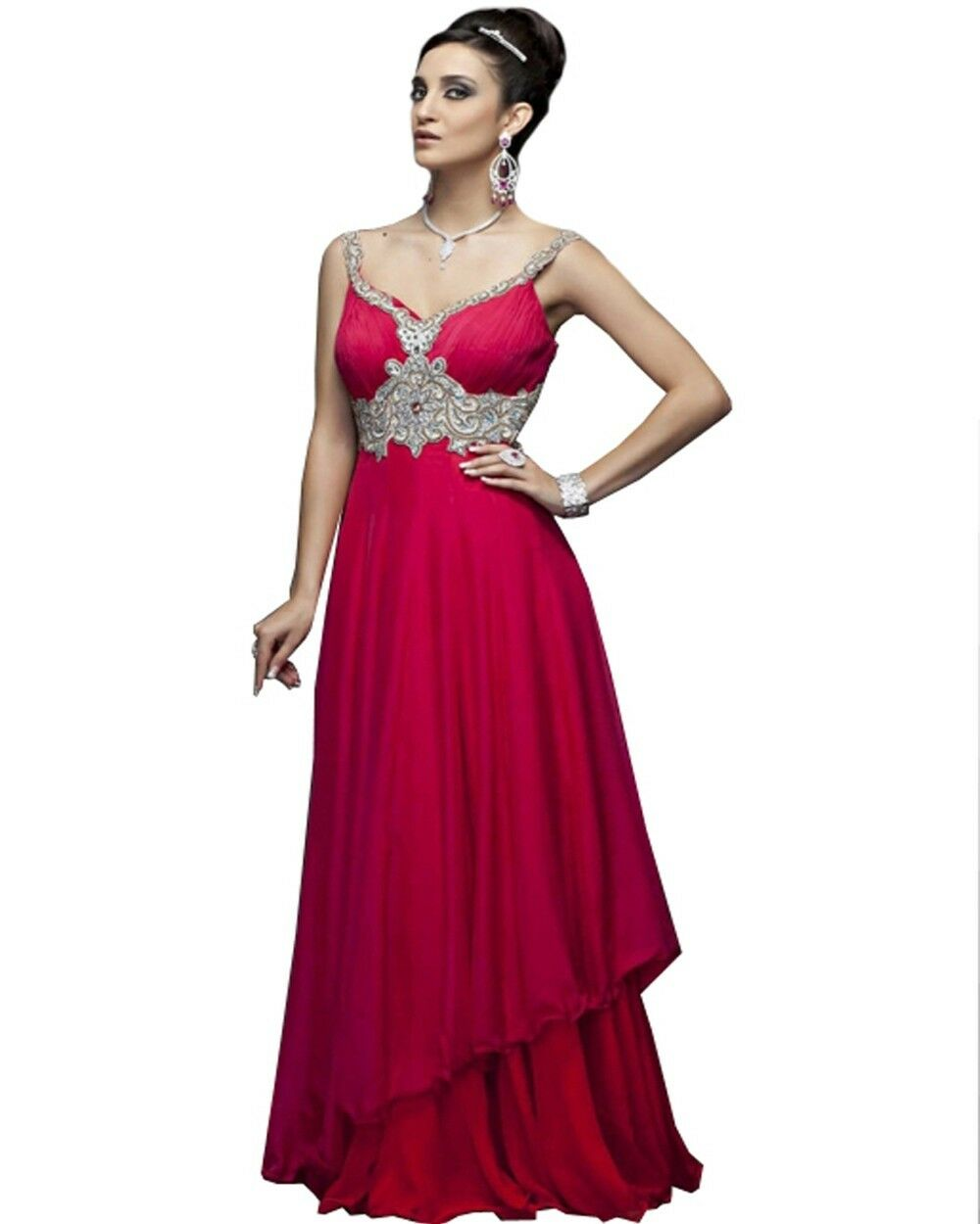 Couture Designer Pink Party Dress
