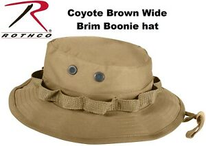7581b6e39dc6c Image is loading Coyote-Brown-Military-Tactical-Wide-Brim-Bucket-Camping-