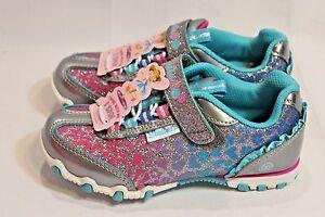 cffedf6a5f6 New Skechers Prima Ballerina Wild Spun Lil Twister silver blue pink ...
