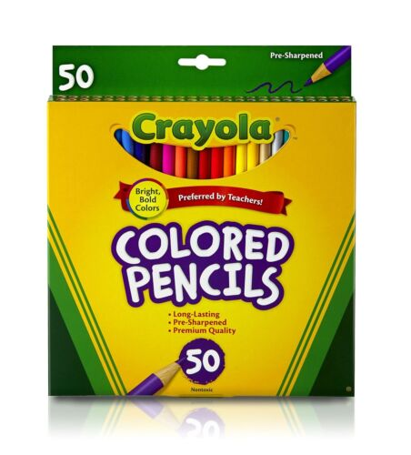 Pack of 6 Crayola Colored Pencils Assorted Colors 50 ea