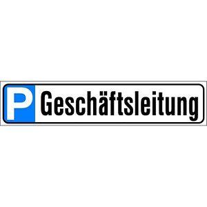 Schild-51-x-11-cm-Parkschild-P-Parken-Parkplatz-Geschaeftsleitung-308903