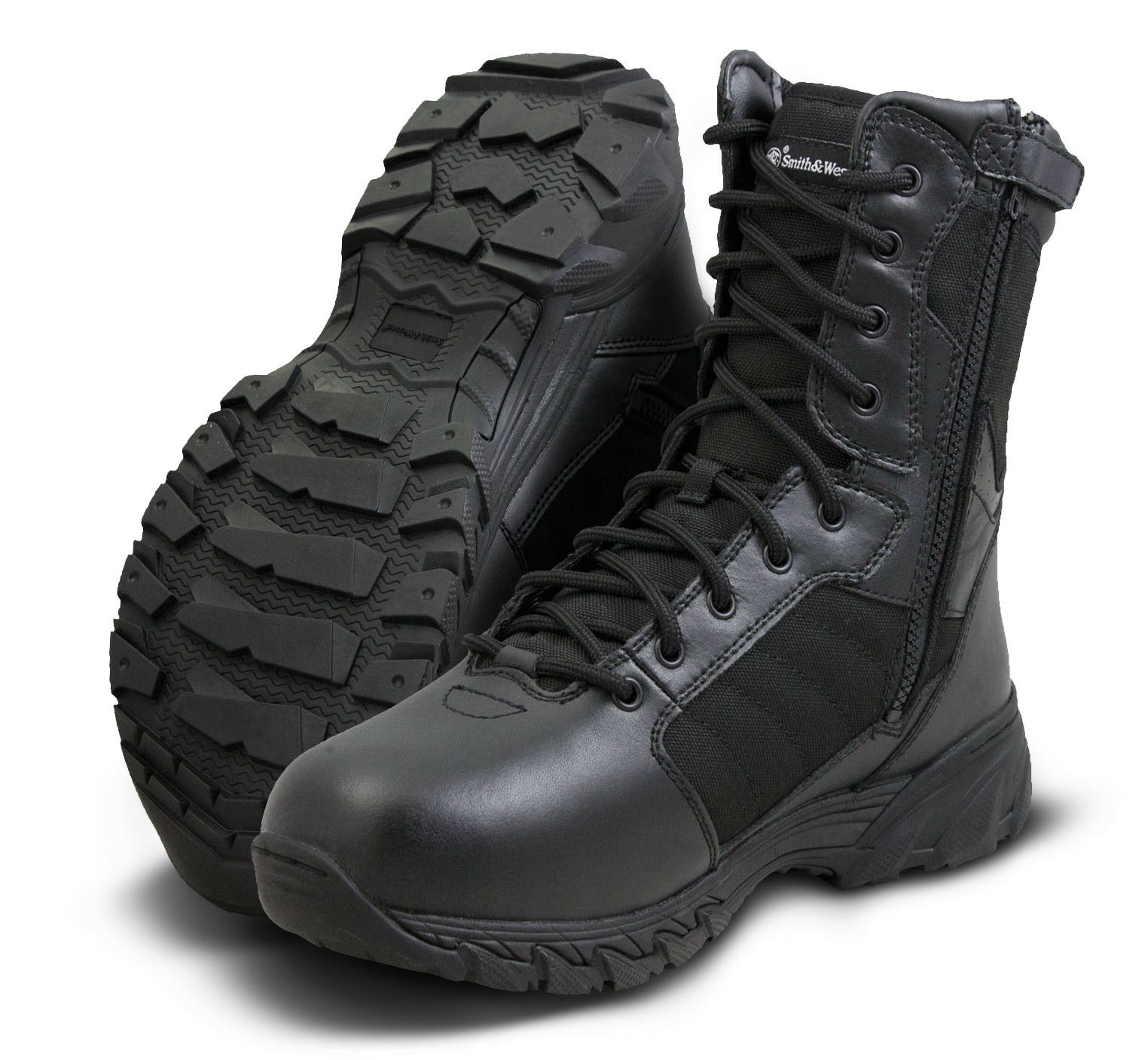 Smith & Wesson Breach 2.0 8  Cremallera Lateral botas Negras