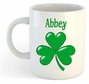 Abbey - Trèfle Nom Personnalisé Tasse - Irlandais st Patrick Cadeau c04utcob-08013608-432127948