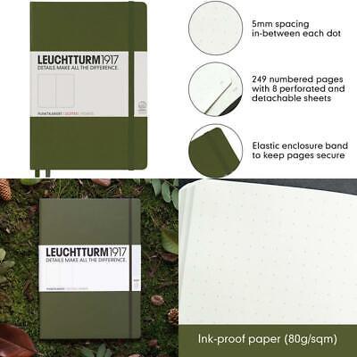 249 Numbered Pages Azure Leuchtturm1917 Medium A5 Plain Hardcover Notebook