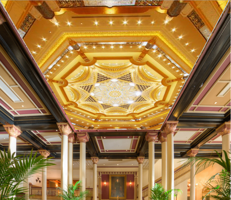 3D Eight Star Palace Hotel 7 Ceiling Wall Paper Print Wall Indoor Wall Murals CA