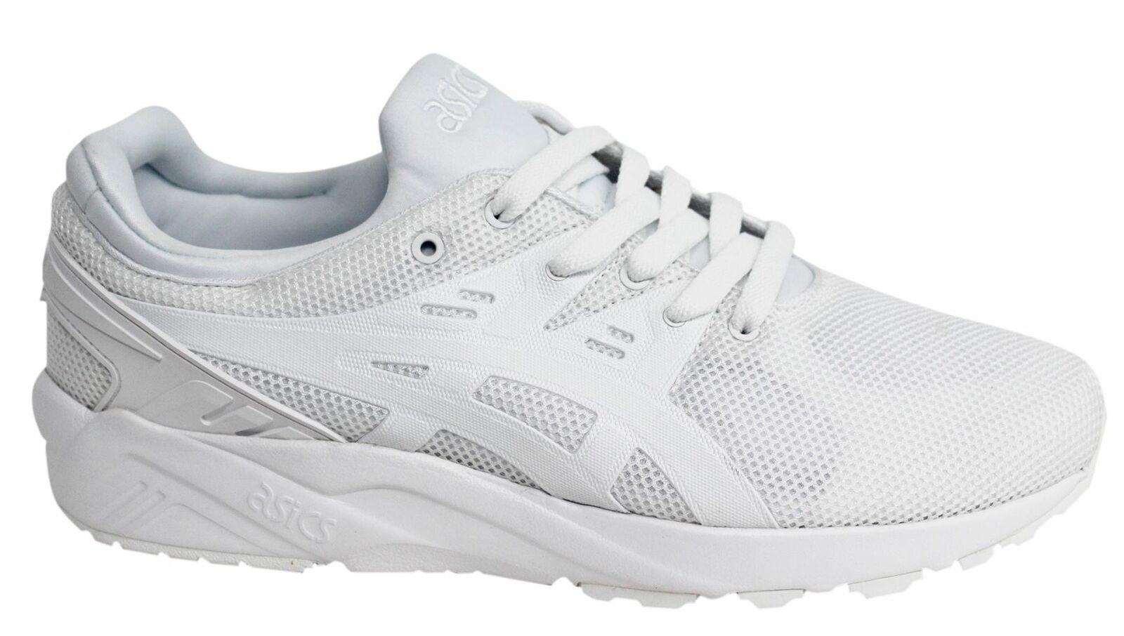 Asics Gel-Kayano Evo Weiß Textil Schnürer Laufen Herren Turnschuhe HN6A0 0101
