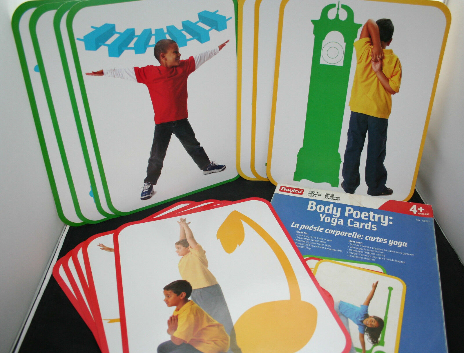 Roylco Body Poetry Illustrated Yoga Cards Cards Yoga with Instructions - 16 Big Cards ec763c