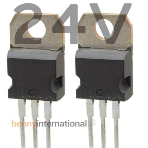 AUS STOCK 4x 24V VOLTAGE REGULATOR POSITIVE 1.5A TO220 L7824CV 7824 Arduino