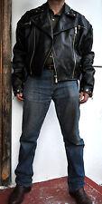 DOLCE & GABBANA D&G Uber Rare Vintage Black Leather Studded Biker Jacket Sz M-L