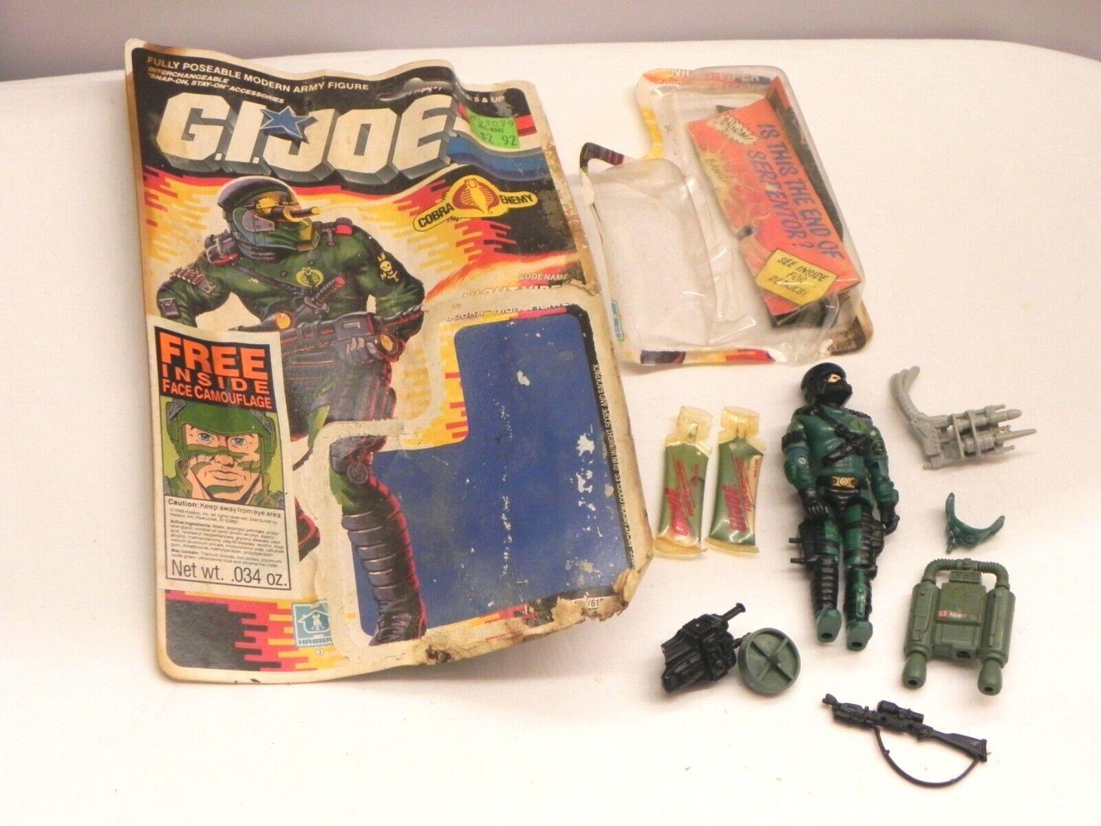 1988 1989 Vintage GI Joe Cobra Night Fighter Viper Action Figure Camouflage READ