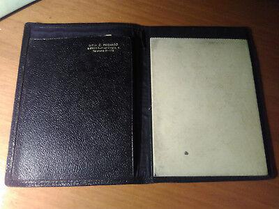 Perseverando Vintage '20s: Porta Block Notes In Pelle E Vernice Nera Ditta C. Morando Genova Prevenire I Capelli Da Ingrigire E Utile Per Mantenere La Carnagione