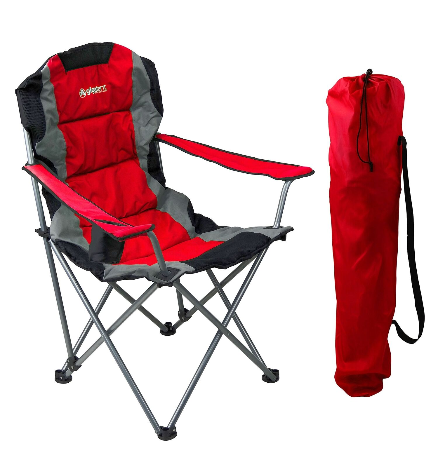 GigaTent Red Folding Camping Chair  – Ultra Lightweight Collapsible Quad Padde...  online cheap