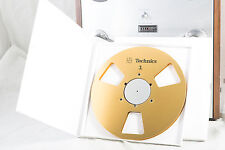 """New!  Technics Gold 10.5"""" inch Metal Reel for 1/4"""" tape- Mint Condition"""