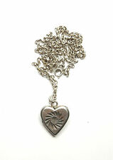 """Vintage 925 Silver LOVE HEART PHOTO PICTURE LOCKET & NECKLACE CHAIN 10.3g 25"""""""