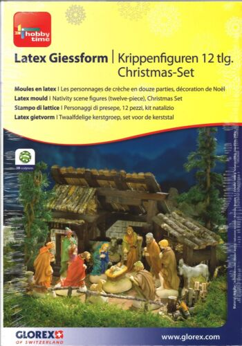 Látex giessform krippenfiguren 12-piezas Christmas-set