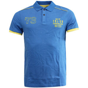 Klassische Hemden Systematisch Timberland Earthkeepers Blue Cotton Button Up Mens Polo Shirt 6002j 422 R12a
