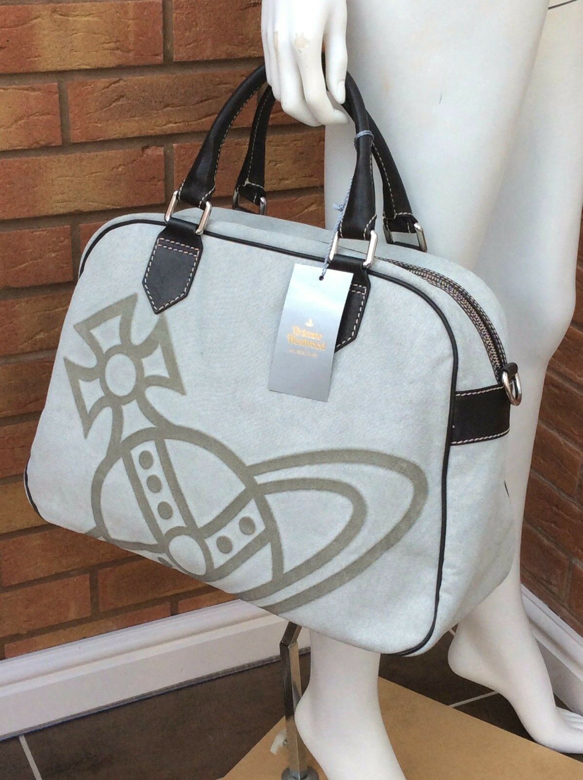 93d1d07823 Vivienne Westwood Large Iconic Orb Tote Overnight Bag Retail Made in Italy  for sale online