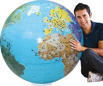 Caly 060°F-Giant Inflatable Globe Diameter 85cm