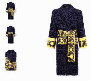 Luxury-Printing-Logo-Baroque-Jacquard-Bathrobes-Medusa-Designer-Home-Night-Robes
