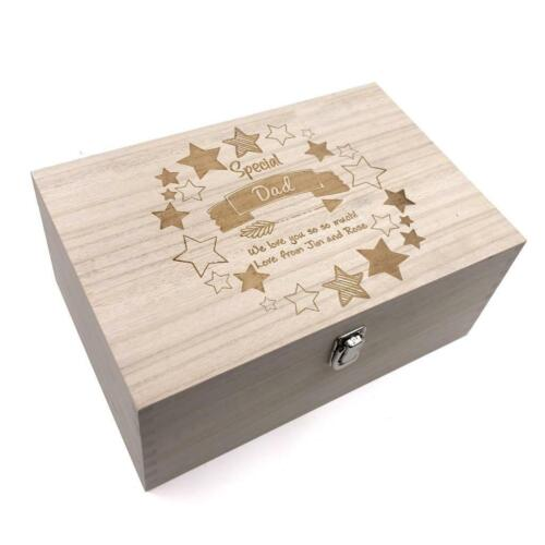 Special Dad Gift Personalised Large wooden Keepsake Box Gift HB-80