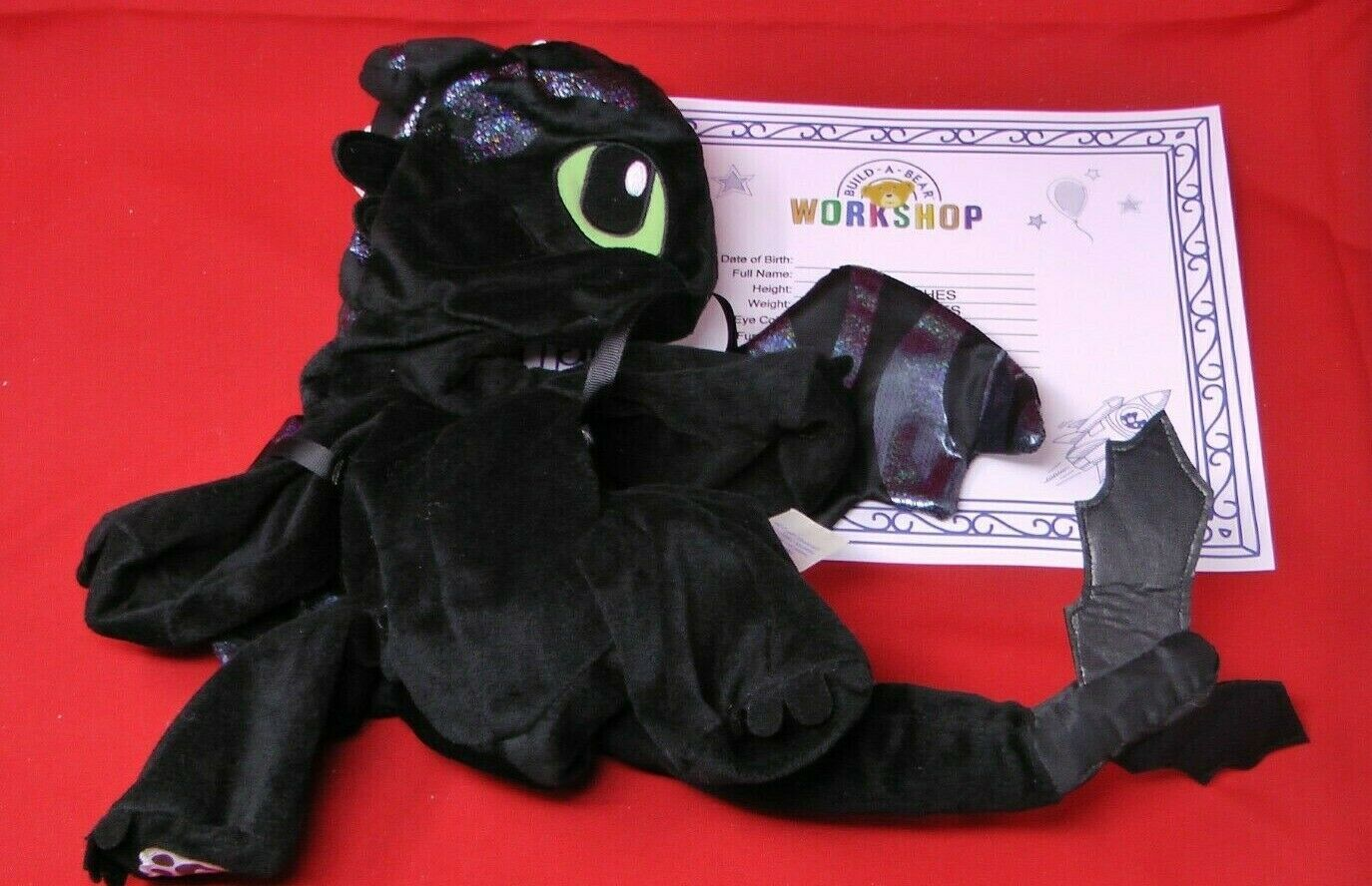 NEW Build-a-Bear Special Limited Edition Hidden World Glow Toothless Dragon