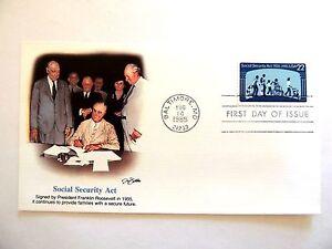 Agosto-14th-1985-034-Social-Seguridad-Act-034-Primer-Dia-Edicion