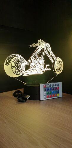 idée cadeau bikers dessin animé veilleuse Lampe led 3D Moto Harley Davidson