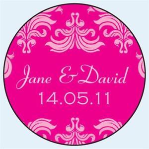 Personalised-Wedding-Stickers-Labels-Any-Colour-5-sizes-Fleur-de-Lys-D006