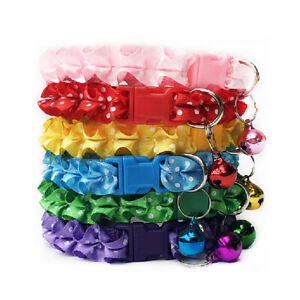 Cute-New-Cat-Dog-Lace-Collar-With-Bell-Adjustable-Buckle-Collar-Cat-Pet-Supplies