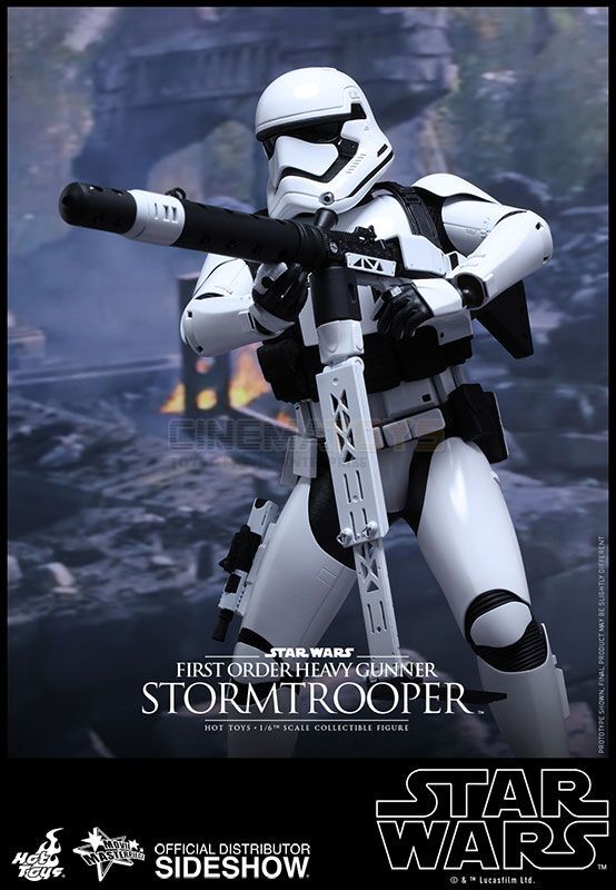 STAR WARS EP.7 First Order Heavy Gunner Stormtrooper Sixth Scale Figure Hot Toys