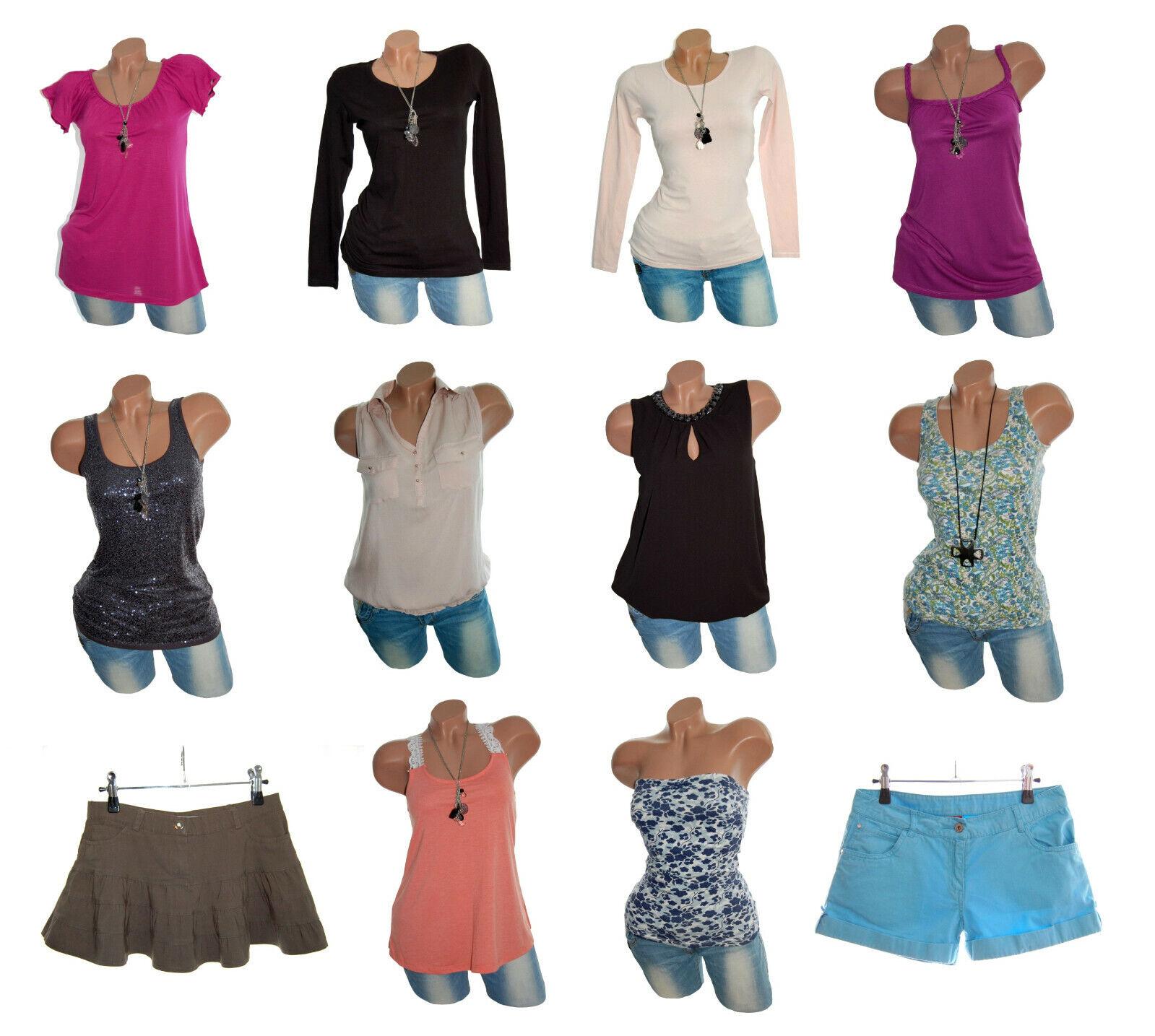12 Teile Bekleidungspaket Paket Kleidung Damen Gr. XS / S 32 / 34